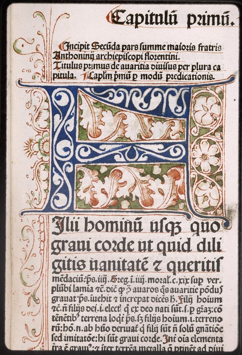 Lyon, Bibl. mun., inc. 0431, f. a 5 - vue 2