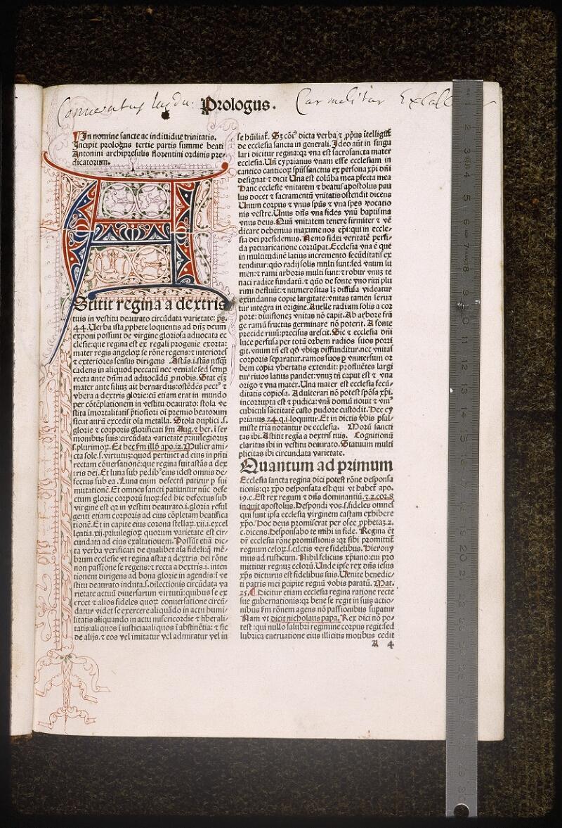 Lyon, Bibl. mun., inc. 0432, f. A 4 - vue 1