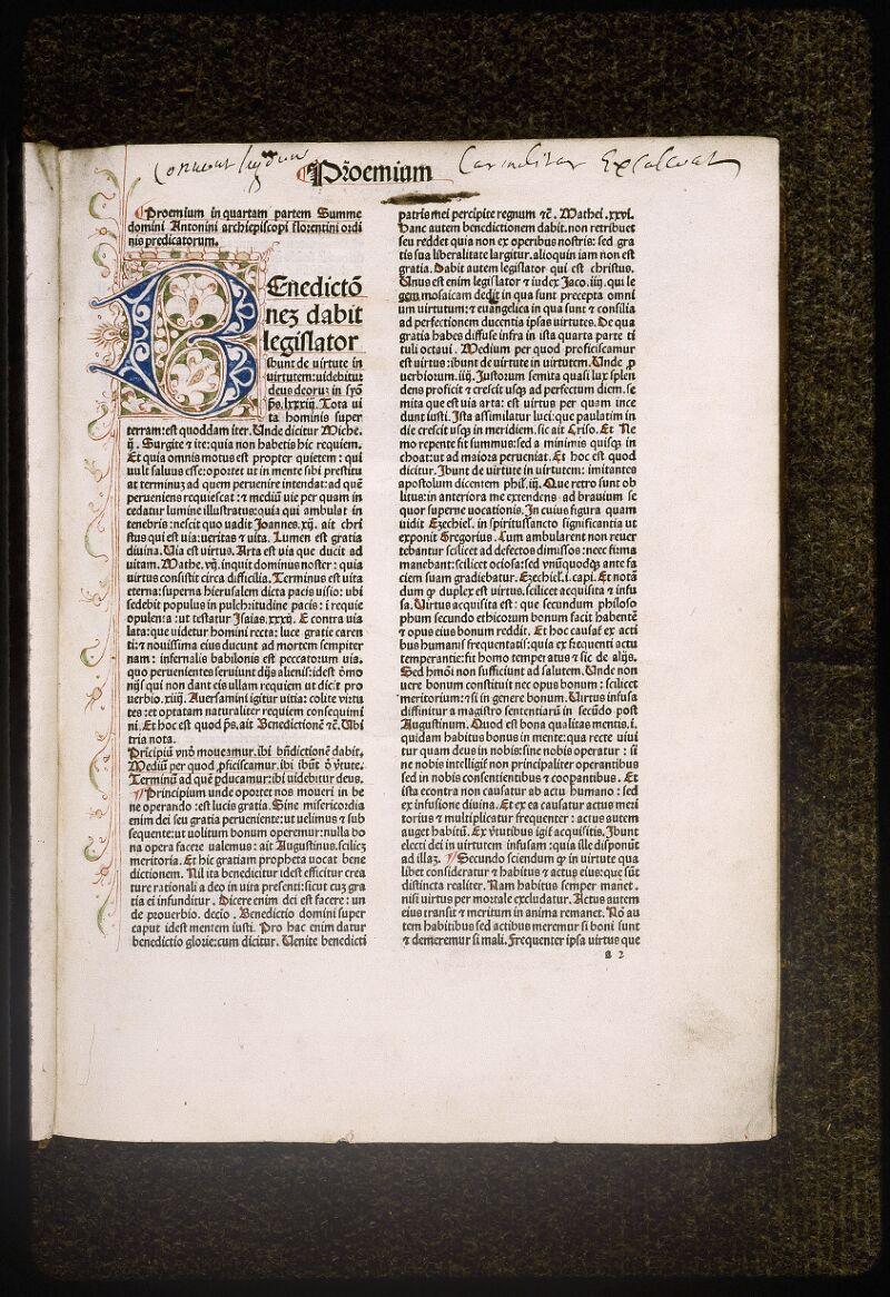 Lyon, Bibl. mun., inc. 0434, f. a 2 - vue 2