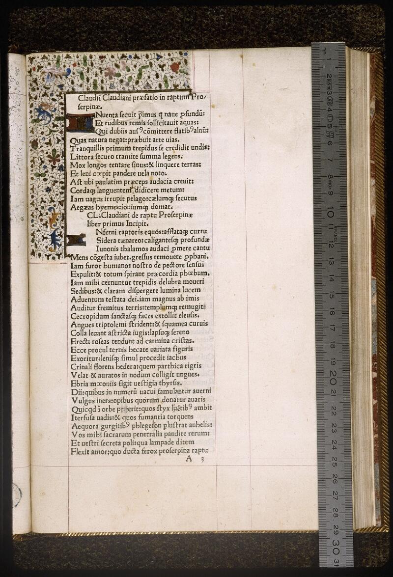 Lyon, Bibl. mun., inc. 0628, f. A 3 - vue 1