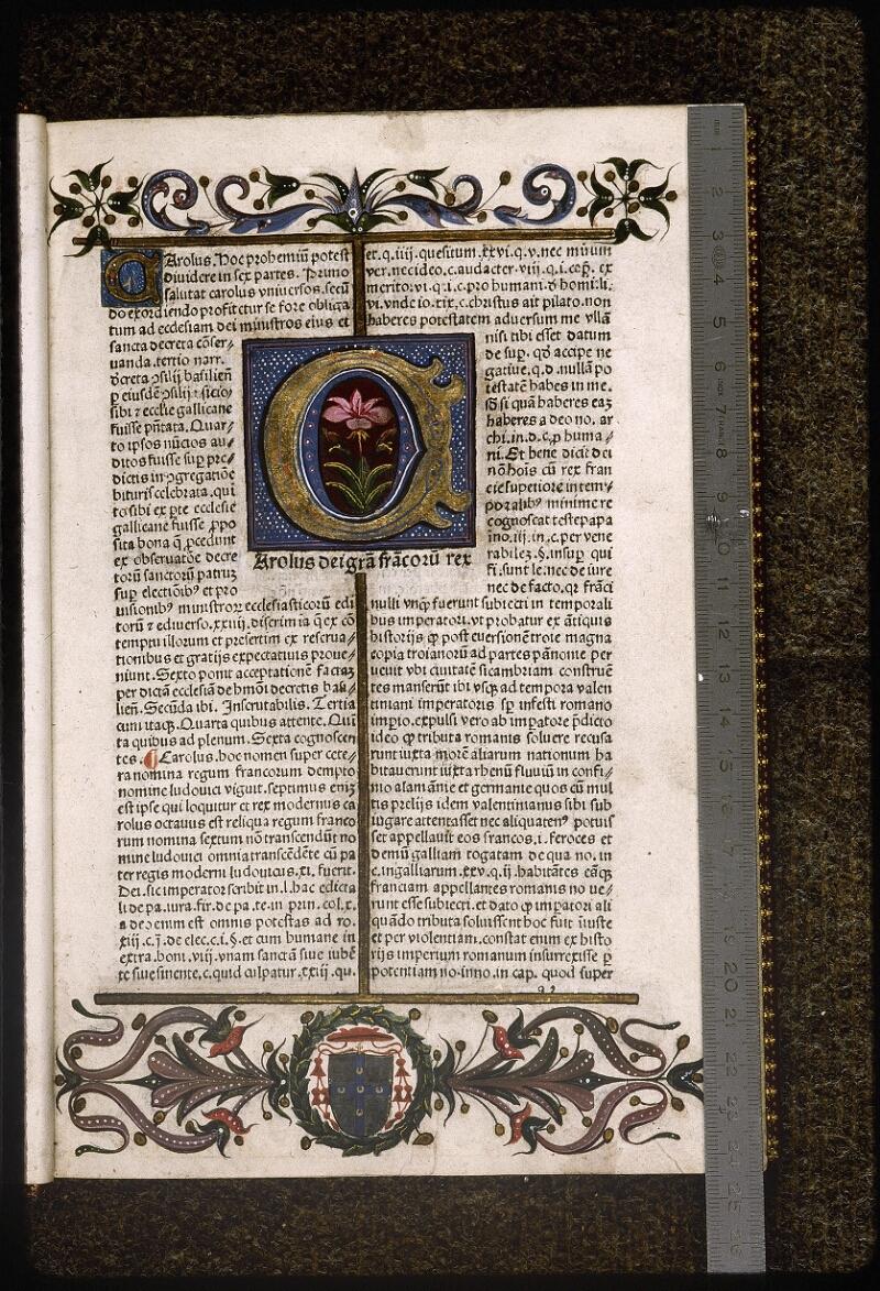 Lyon, Bibl. mun., inc. 0629, f. a 2 - vue 1
