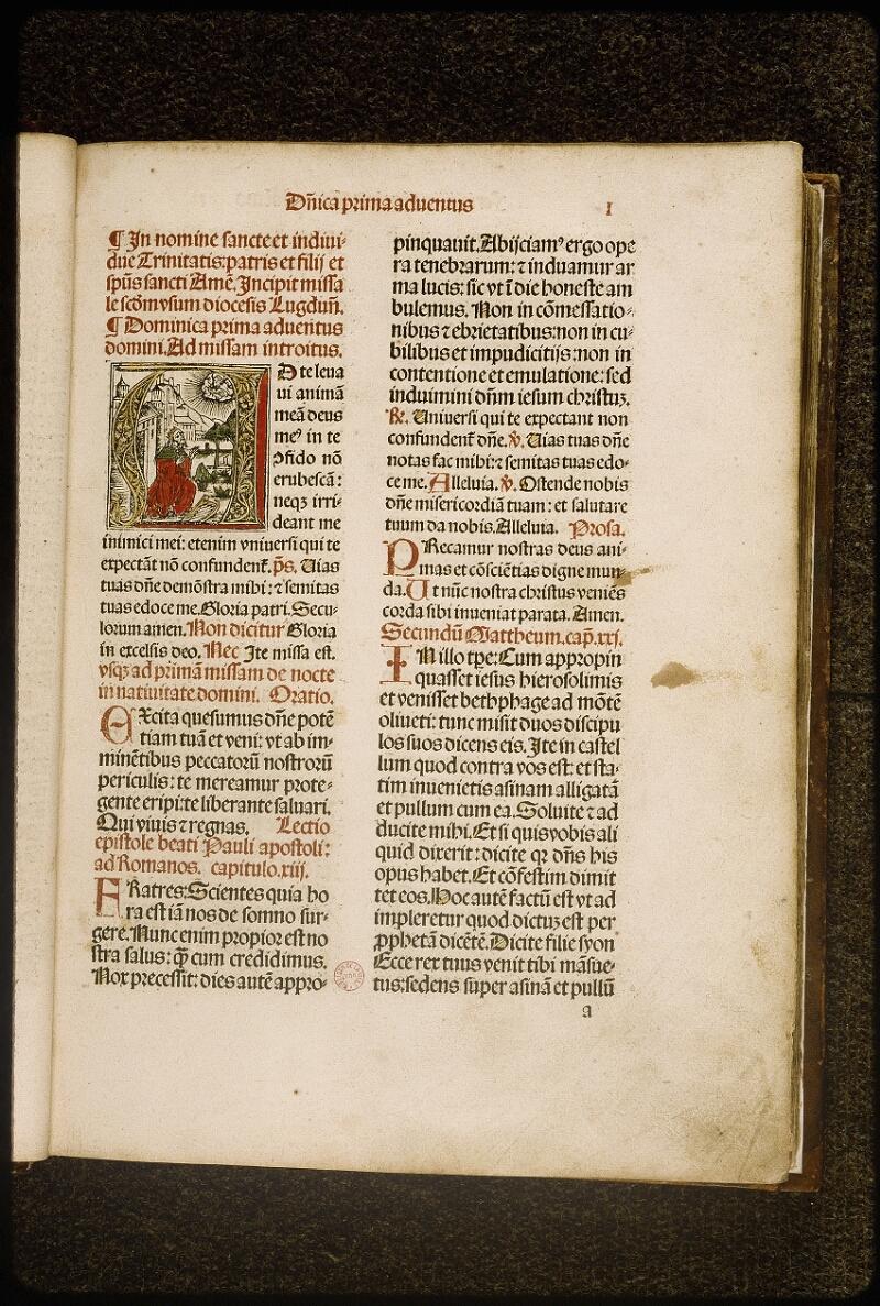 Lyon, Bibl. mun., inc. 0921, f. 001 - vue 2