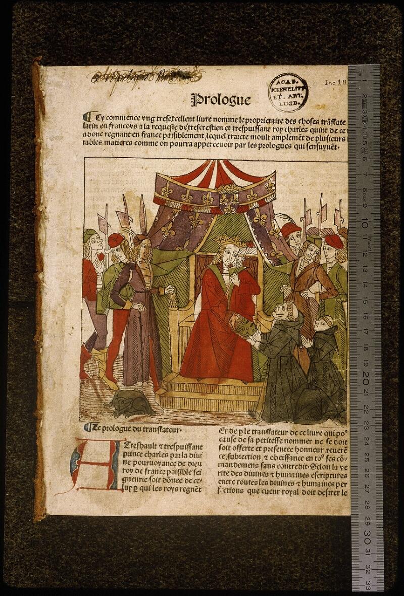 Lyon, Bibl. mun., inc. 1042, f. 001 - vue 1