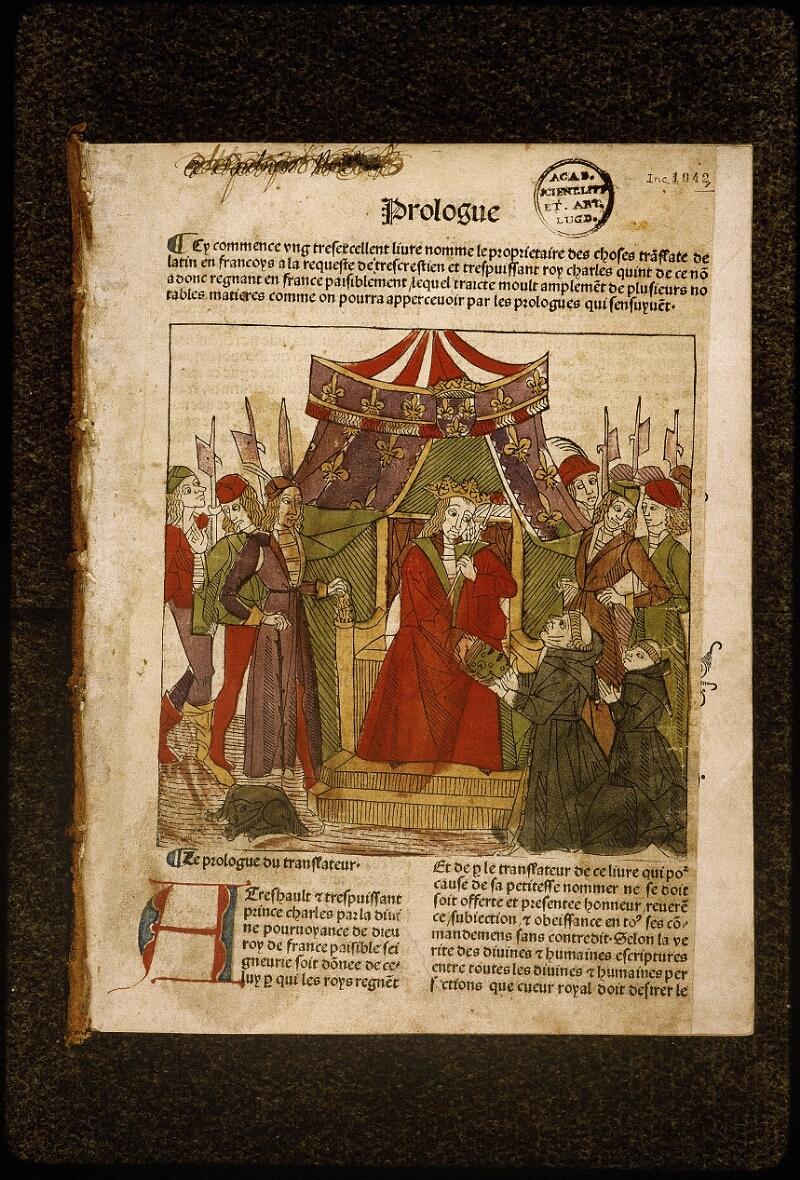 Lyon, Bibl. mun., inc. 1042, f. 001 - vue 2
