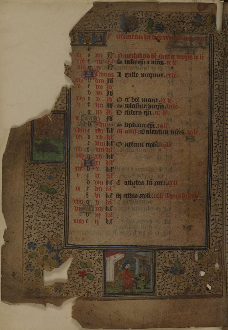 Mâcon, Bibl. mun., ms. 0103, f. 001v - vue 1