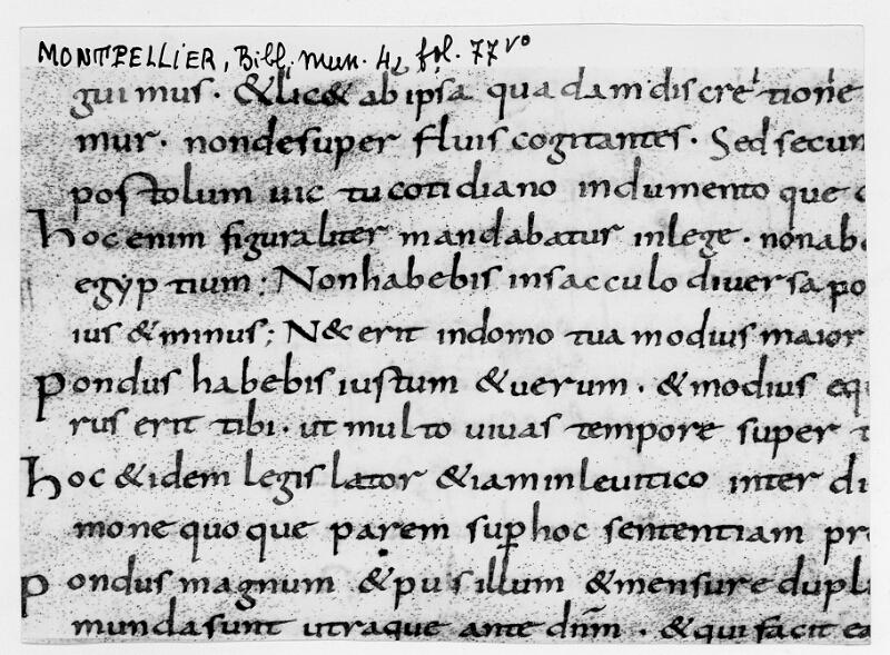 MONTPELLIER, Bibliothèque municipale, 4, f. 77v