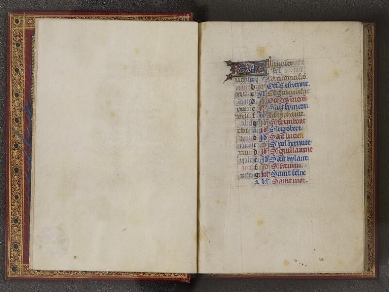 NANTES, Musée Dobrée, ms. 0012 t.1, feuillet vierge - f. 001