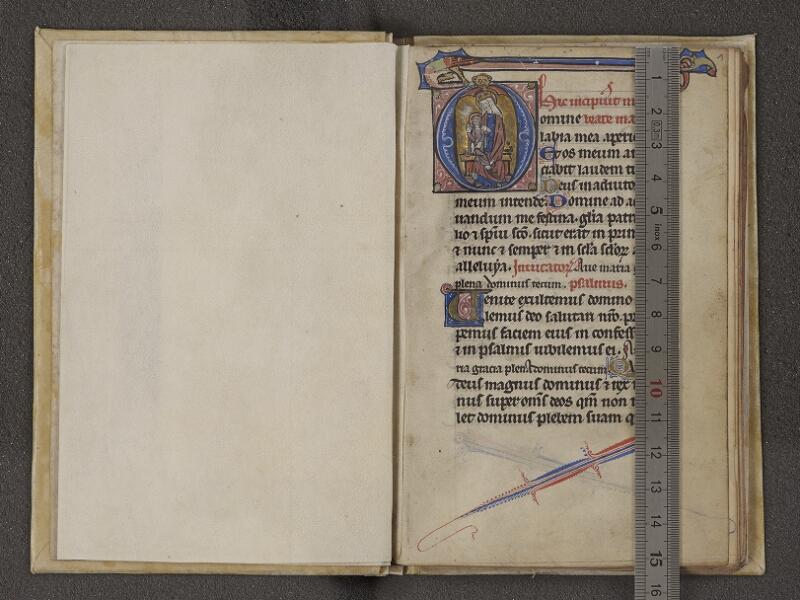 NANTES, Musée Dobrée, ms. 0027, contregarde - f. 001 avec réglet