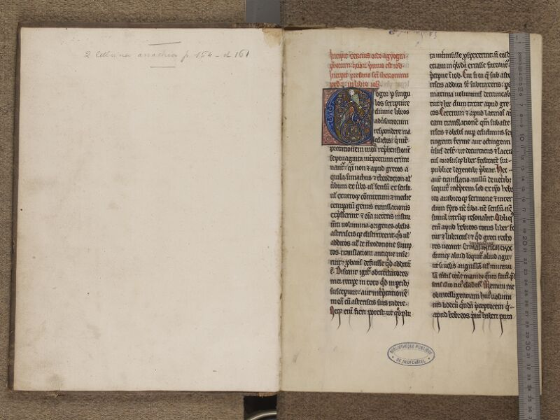 NEUFCHATEL-EN-BRAY, Musée Mathon-Durand, Inv. 68.22.3, garde verso - f. 001 (avec réglet)