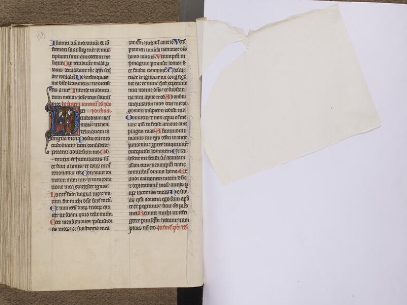 NEUFCHATEL-EN-BRAY, Musée Mathon-Durand, Inv. 68.22.3, f. 129v - feuille de soie