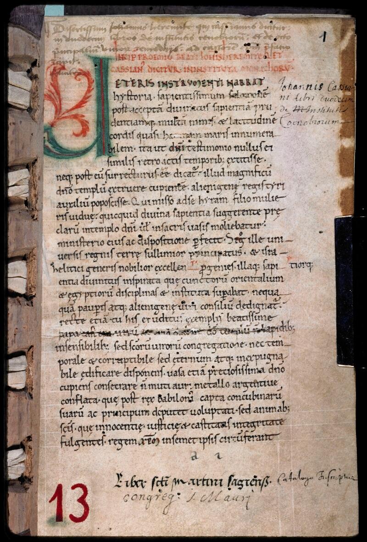 Sées, Bibl. de l'Evêché, ms. 0013, f. 001
