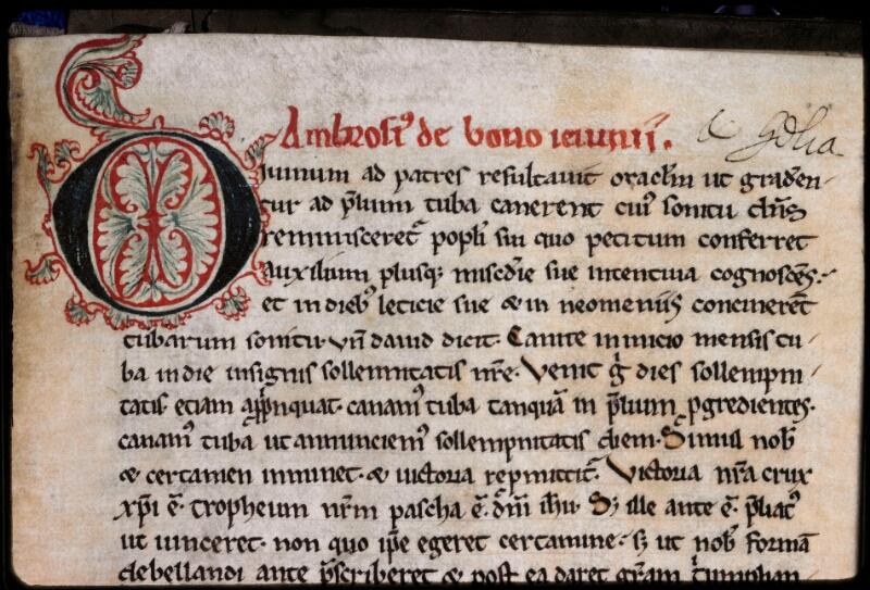 Sées, Bibl. de l'Evêché, ms. 0017, f. 089