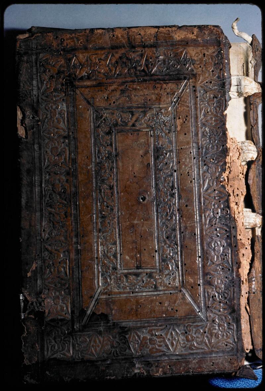 Sées, Bibl. de l'Evêché, ms. 0018, reliure plat inf.