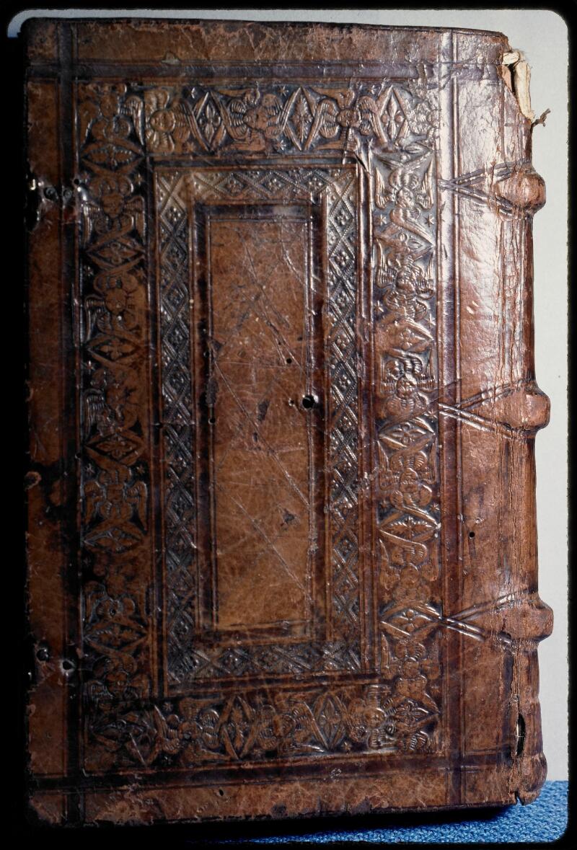 Sées, Bibl. de l'Evêché, ms. 0019, reliure plat inf.