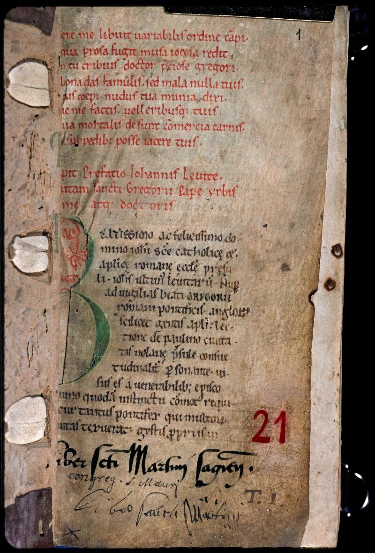 Sées, Bibl. de l'Evêché, ms. 0021, f. 001