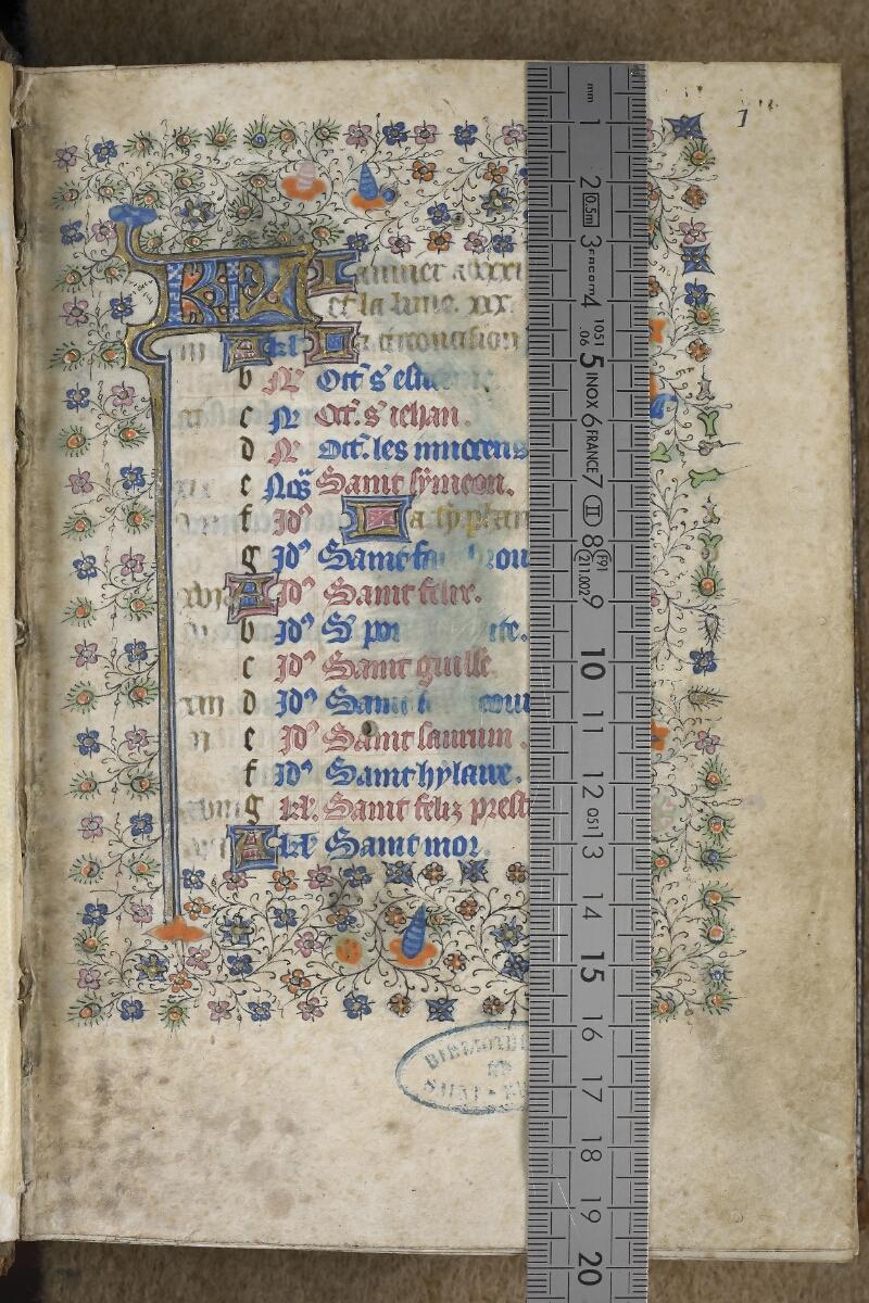 Saint-Brieuc, Bibl. mun., ms. 001, f. 001 - vue 1