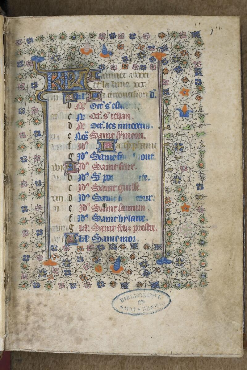 Saint-Brieuc, Bibl. mun., ms. 001, f. 001 - vue 2