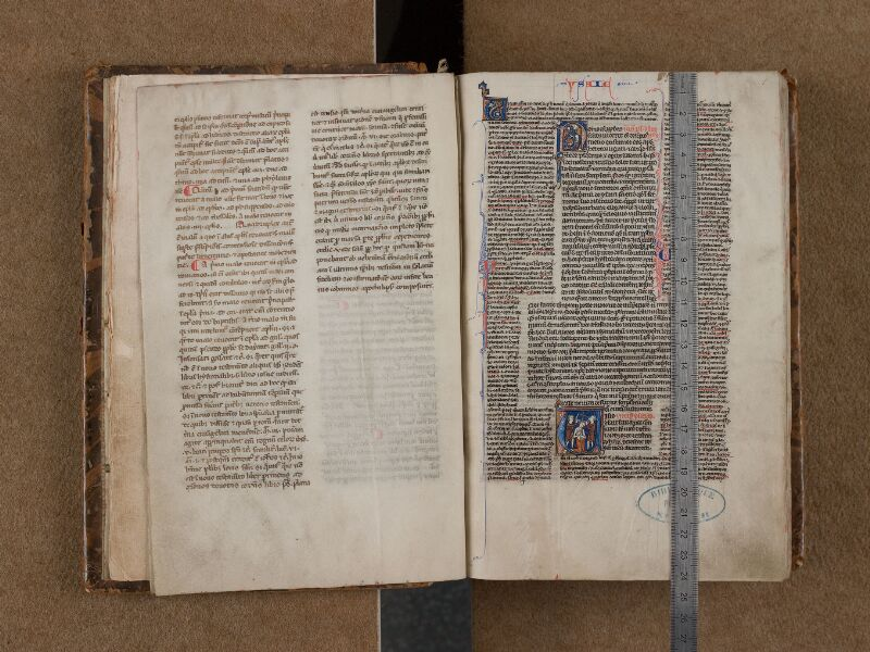 SAINT-OMER, Bibliothèque municipale, 0004, f. 000Hv - 001 avec réglet