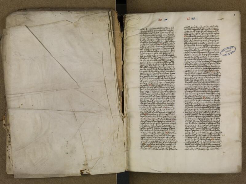 SAINT-OMER, Bibliothèque municipale, 0006, vol. 2, f. 000Av - f. 001