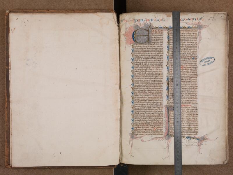 SAINT-OMER, Bibliothèque municipale, 0007, vol. 1, f. 000Av - f. 001 avec réglet