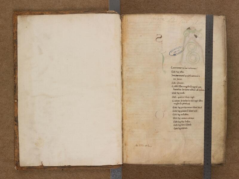 SAINT-OMER, Bibliothèque municipale, 0009, f. 000Av - f. 001 avec réglet