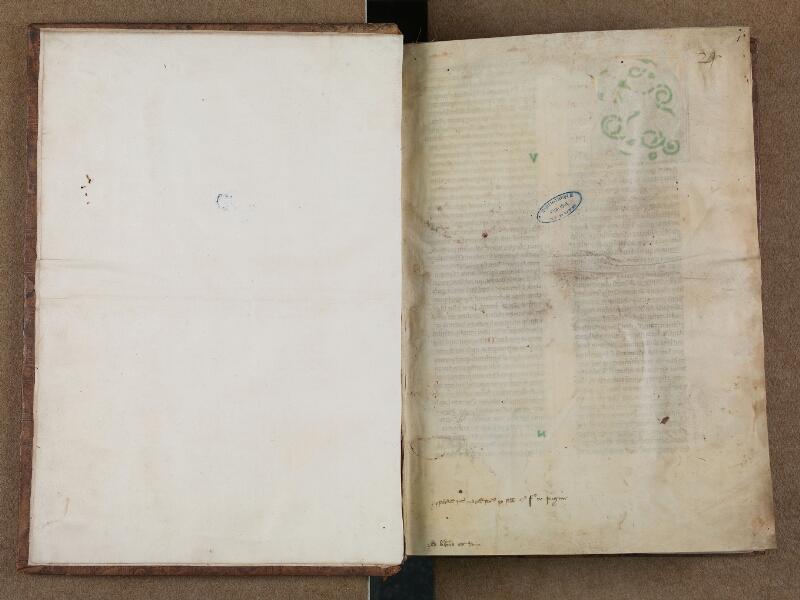 SAINT-OMER, Bibliothèque municipale, 0032, vol. 1, f. 001v - 002