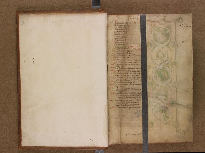 SAINT-OMER, Bibliothèque municipale, 0034, f. 000Av - f. 001 avec réglet