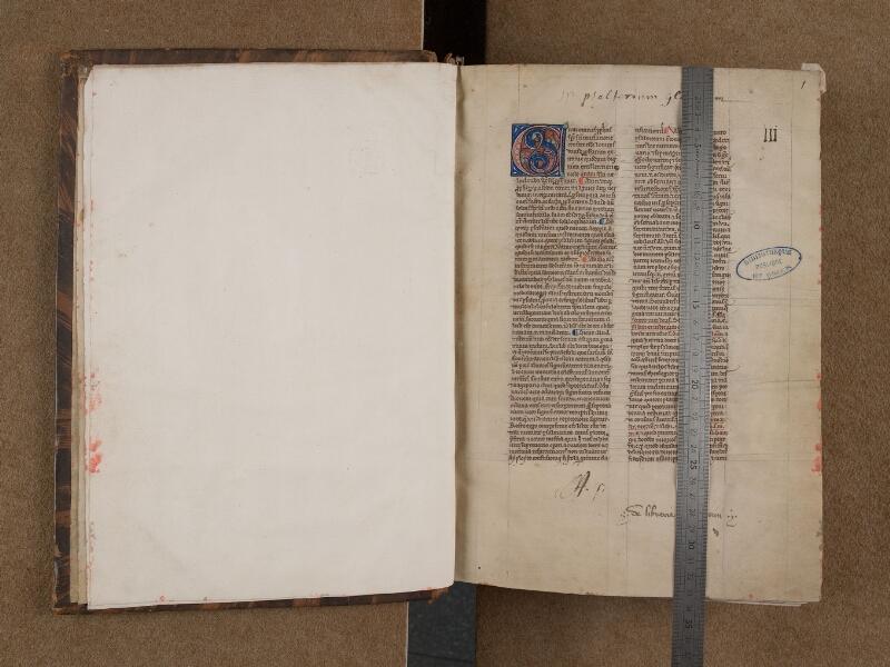 SAINT-OMER, Bibliothèque municipale, 0035, f. 000Bv - 001 avec réglet