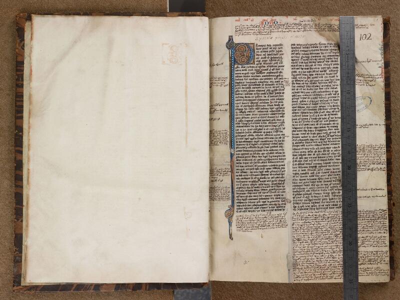 SAINT-OMER, Bibliothèque municipale, 0036, f. 000Bv - f. 001 avec réglet