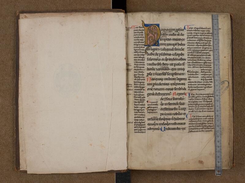 SAINT-OMER, Bibliothèque municipale, 0038, f. 000Av - f. 001 avec réglet