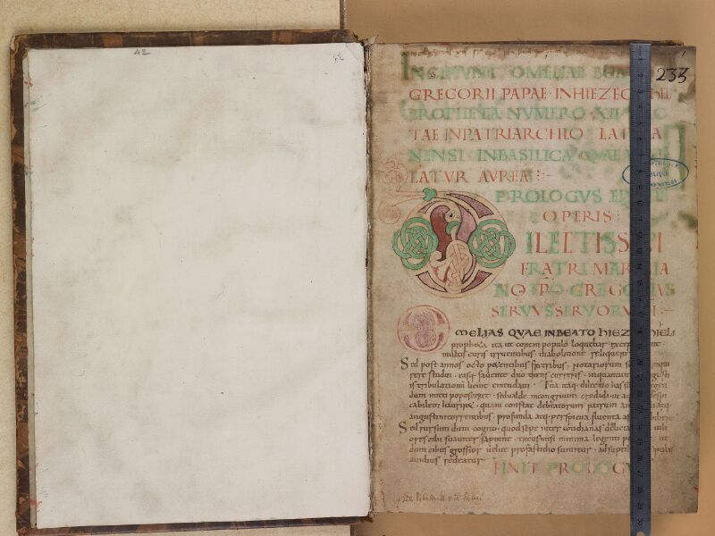 SAINT-OMER, Bibliothèque municipale, 0042, f. 000Bv - f. 001 avec réglet