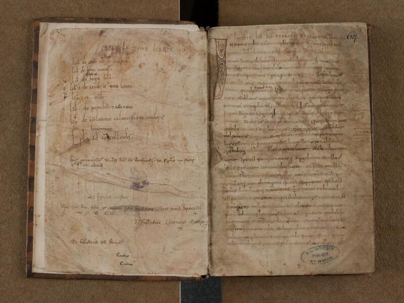 SAINT-OMER, Bibliothèque municipale, 0072, f. 000Bv - f. 001r