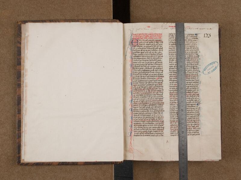 SAINT-OMER, Bibliothèque municipale, 0088, f. 000Cv - f. 001 avec réglet