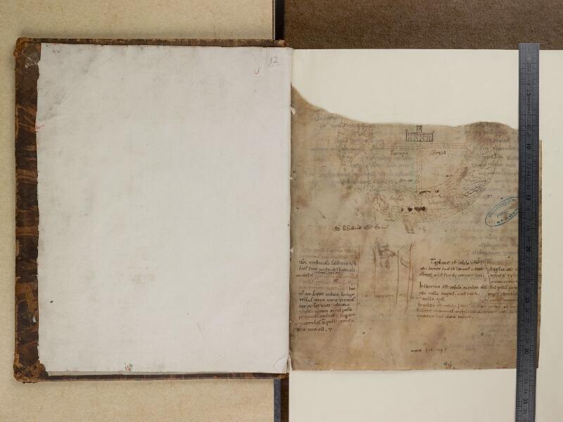 SAINT-OMER, Bibliothèque municipale, 0097, f. 000Bv - f. 001 avec réglet