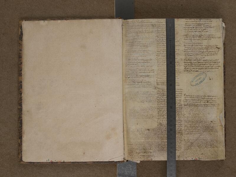 SAINT-OMER, Bibliothèque municipale, 0107, f. 000Bv - f. 001 avec réglet