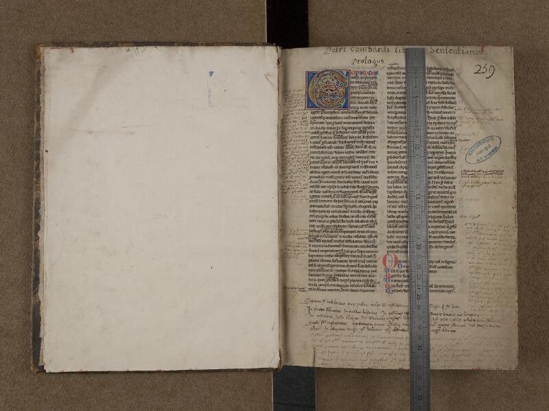 SAINT-OMER, Bibliothèque municipale, 0128, f. 000Dv - f. 001 avec réglet