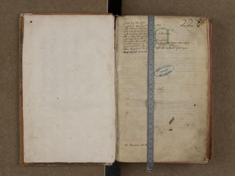 SAINT-OMER, Bibliothèque municipale, 0142, f. 000Av - f. 001 avec réglet