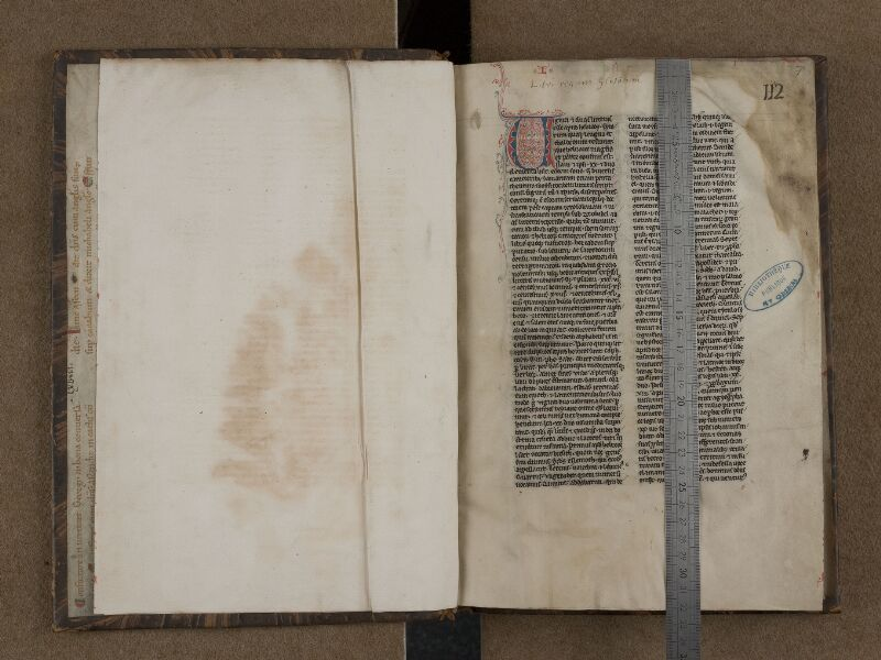 SAINT-OMER, Bibliothèque municipale, 0149, f. 000Bv - f. 001 avec réglet