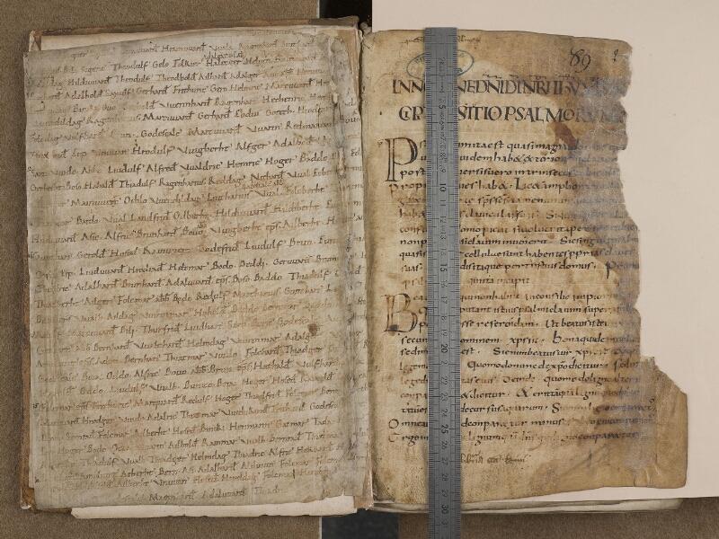 SAINT-OMER, Bibliothèque municipale, 0153, f. 001v – 002 avec réglet