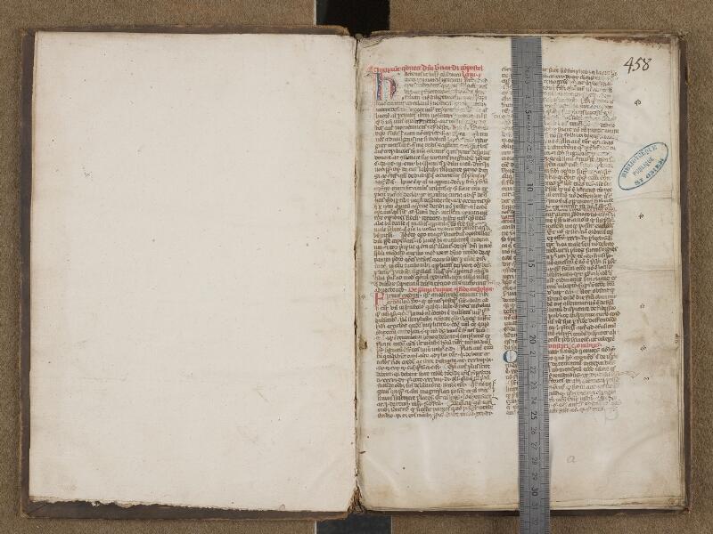 SAINT-OMER, Bibliothèque municipale, 0160, f. 000Av - f. 001 avec réglet
