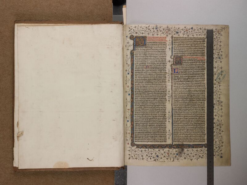 SAINT-OMER, Bibliothèque municipale, 0163, f. 000Cv - f. 001 avec réglet