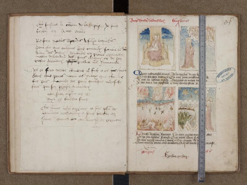 SAINT-OMER, Bibliothèque municipale, 0184, f. 001v - 002 avec réglet