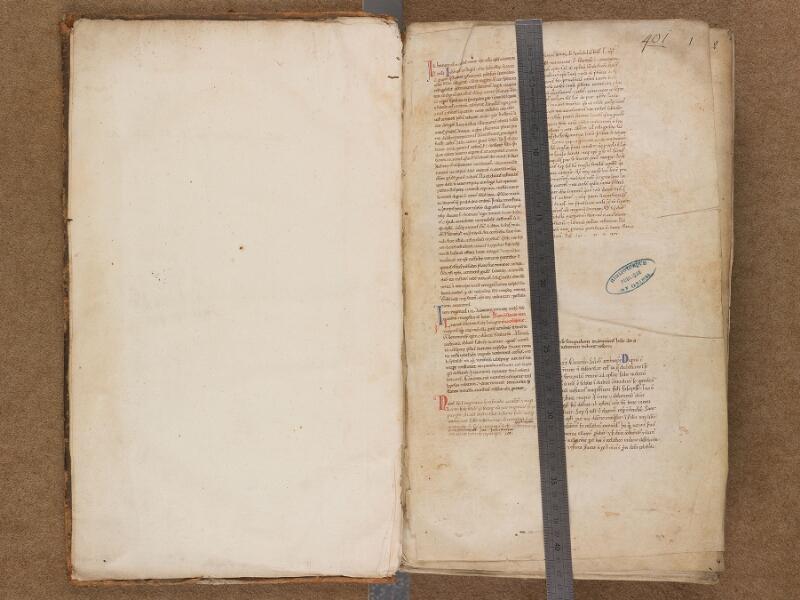 SAINT-OMER, Bibliothèque municipale, 0191, f. 000Av - 001 avec réglet