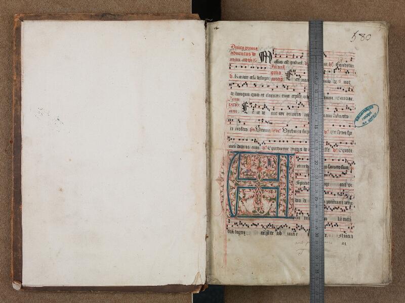 SAINT-OMER, Bibliothèque municipale, 0204, vol. I, f. 000Av - f. 001 avec réglet