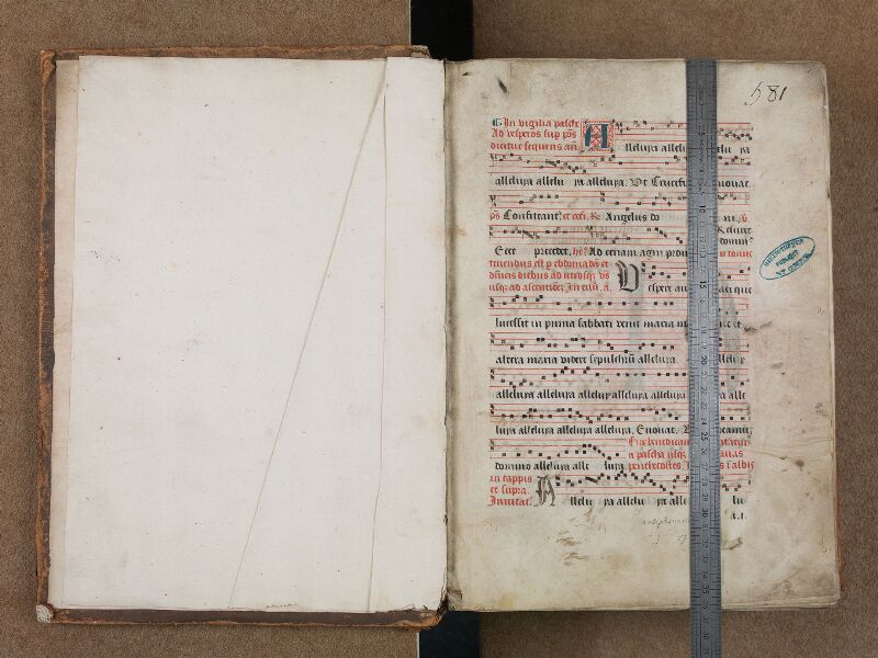 SAINT-OMER, Bibliothèque municipale, 0204, vol. II, f. 000Av - f. 001 avec réglet