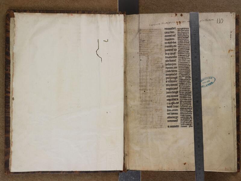 SAINT-OMER, Bibliothèque municipale, 0210, f. 000Bv - f. 001 avec réglet