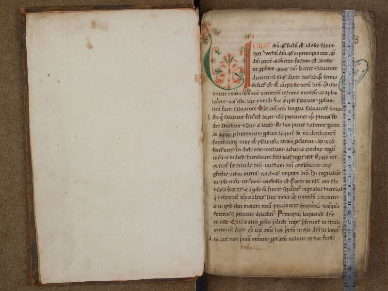 SAINT-OMER, Bibliothèque municipale, 0230, f. 000Av - f. 001 avec réglet
