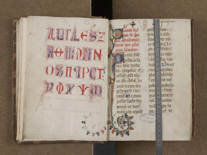 SAINT-OMER, Bibliothèque municipale, 0250, f. 002v - 003 avec réglet