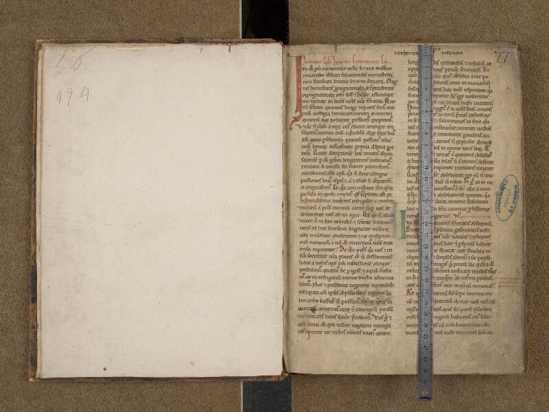 SAINT-OMER, Bibliothèque municipale, 0253, f. 000Av - f. 001 avec réglet