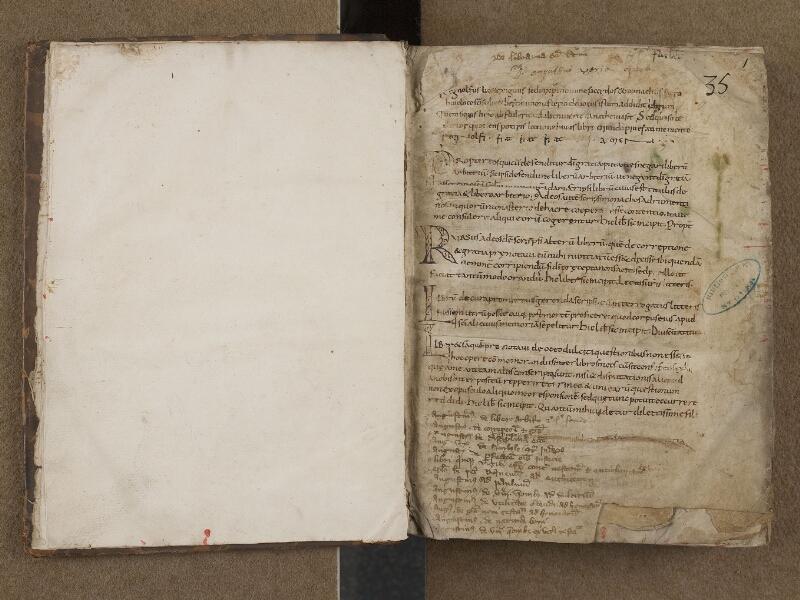 SAINT-OMER, Bibliothèque municipale, 0254, f. 000Cv - f. 001